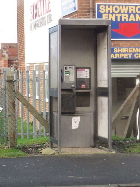 Public telephone box, Shiremoor