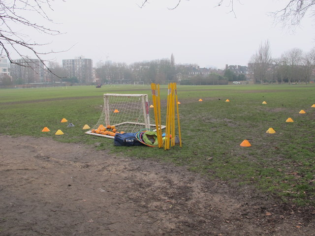 Equipment for young children's football, Holland Park