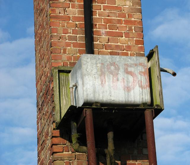 1950s galvanised steel water tank