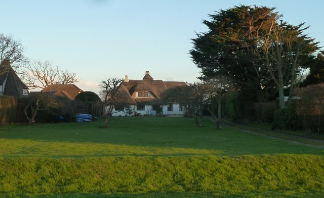 Thatched house at Roman Landing, West Wittering