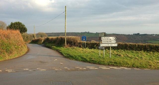 Junction near Trevenning