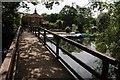 SU7778 : Footbridge at Shiplake Lock by Philip Halling