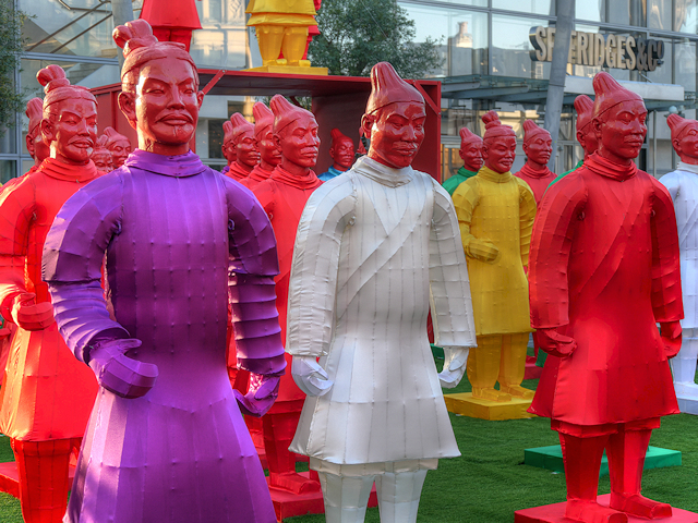 Chinese Guards Outside Selfridges