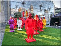 SJ8398 : Terracotta Army, Exchange Square by David Dixon