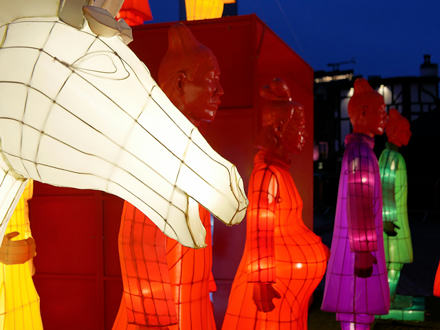 Lanterns of the Terracotta Army Installation, Year of the Rooster