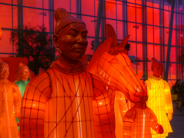 Lanterns of the Terracotta Army (Close-up)