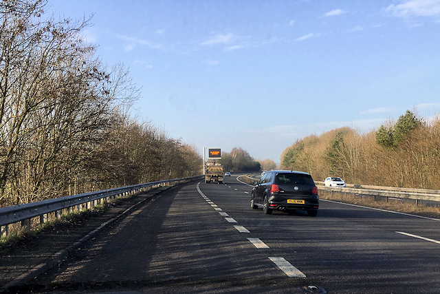 Northbound A590 near Hincaster