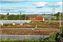 NY4154 : Disused carriage shed, Upperby rail depot by Rose and Trev Clough