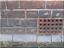 SJ4066 : Bench mark on #25 Bouverie Street, Chester by John S Turner