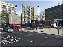 TQ3179 : Elephant and Castle remodelling looking southeast, Newington, south London by Robin Stott