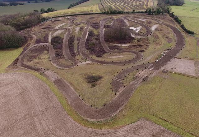 Motocross track on Peak Down (revised layout)