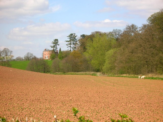 Ploughed field in the valley of the river Rea