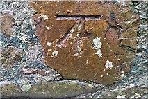 SH5873 : Ordnance Survey Cut Mark by Adrian Dust