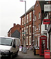SO5039 : Red phonebox in Hereford city centre by Jaggery