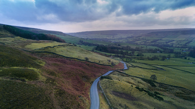 Looking south down Farndale