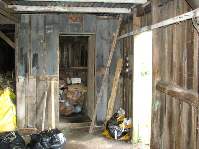 Storage room in old shed