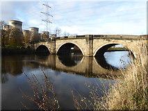 SE4824 : Old bridge at Ferrybridge by Chris Allen
