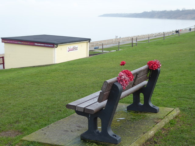 Memorial bench on The Leas at Minster