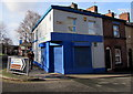 SJ5183 : Shuttered blue corner of Runcorn by Jaggery