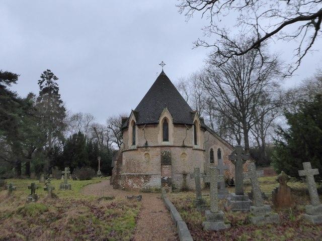 St Andrew, Grafham: churchyard (e)