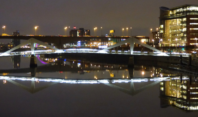 The Clyde in Glasgow at night