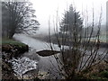 H4772 : Misty at the Camowen River and Ballinamullan Burn by Kenneth  Allen