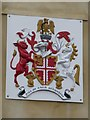 SP4631 : Coat of arms on town hall by Bob Harvey