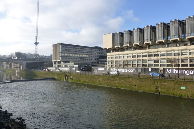 Redevelopment beside the River Wear in Durham
