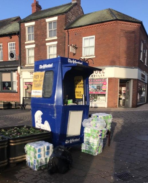 Newcastle-under-Lyme: world's smallest newspaper kiosk