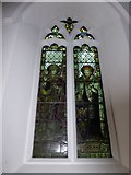 TQ0044 : Holy Trinity, Bramley: stained glass window (c) by Basher Eyre