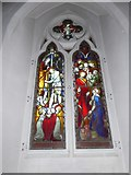 TQ0044 : Holy Trinity, Bramley: stained glass window (n) by Basher Eyre