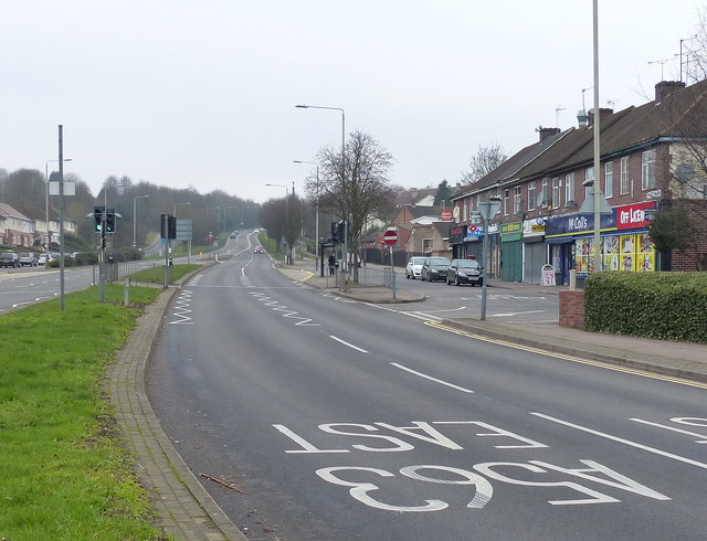 Shops on the A563 Red Hill Way