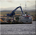 NH6646 : MV Scot Explorer, unloading at Inverness Harbour by Craig Wallace