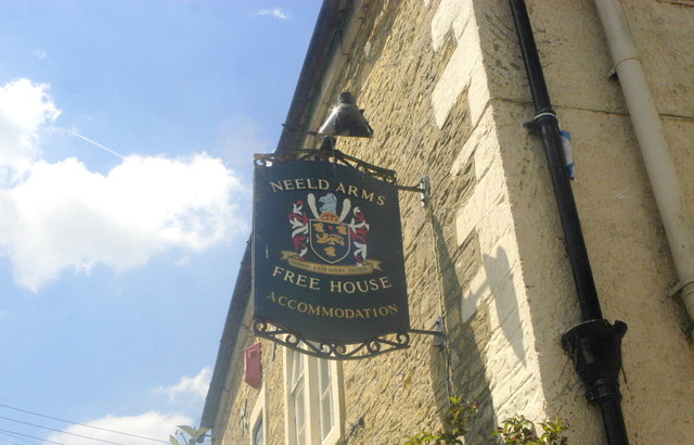 The Neeld Arms Sign, The Street, Grittleton, Wiltshire 2013