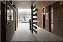 TL4359 : Entrance gate, Churchill College by Jim Barton