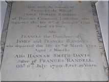 TQ0044 : Holy Trinity, Bramley: memorial (xii) by Basher Eyre