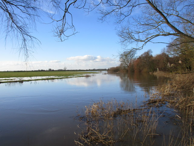The River Derwent in flood at Bubwith