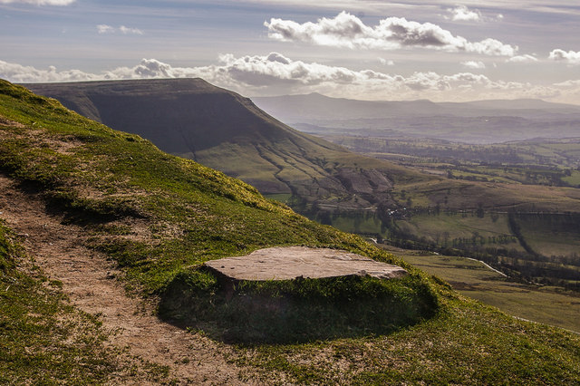 On the slopes of Hay Bluff