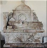 SK7645 : Edward Burnell monument, St Peter's church, Sibthorpe by Julian P Guffogg