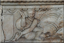 SK7645 : Putto on Burnell Monument by Julian P Guffogg