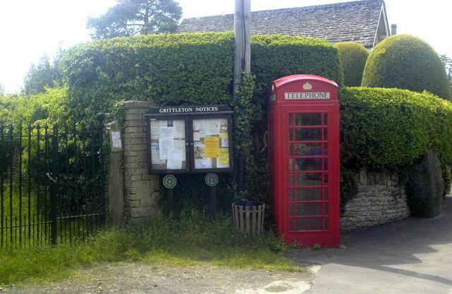 Telephone Kiosk, The Street, Grittleton, Wiltshire 2013