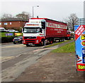 SO5039 : Farrall's Transport lorry in Ross Road, Hereford by Jaggery