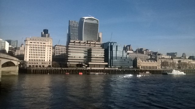 The City of London from the south end of London Bridge