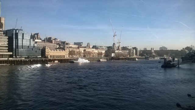 The City of London and River Thames from London Bridge