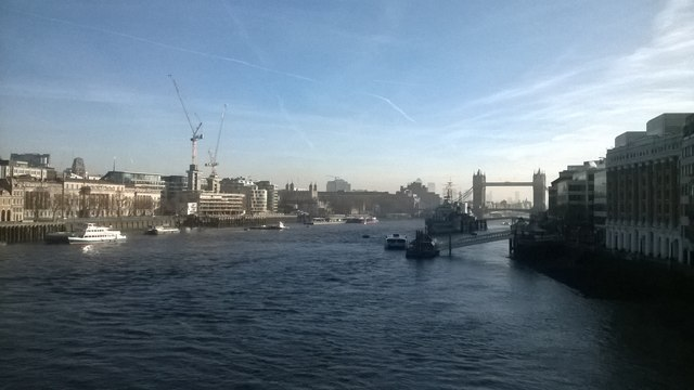 View down the Thames from London Bridge