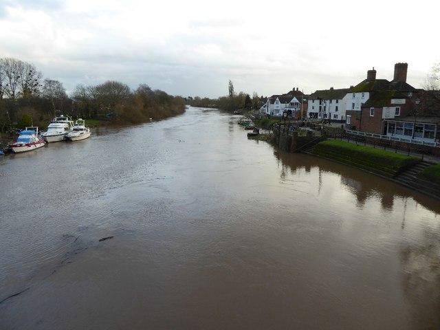 A muddy River Severn