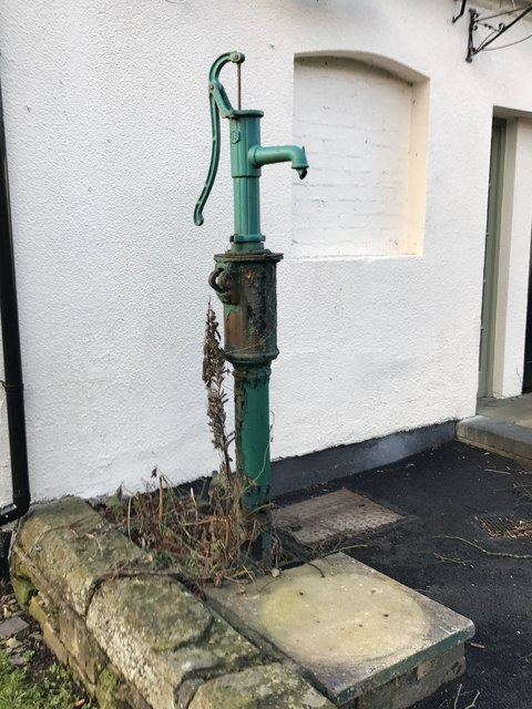Keele: village pump outside the Sneyd Arms