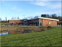 SJ8145 : Keele Cemetery offices by Jonathan Hutchins