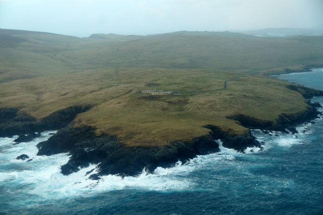Garths Ness from the air