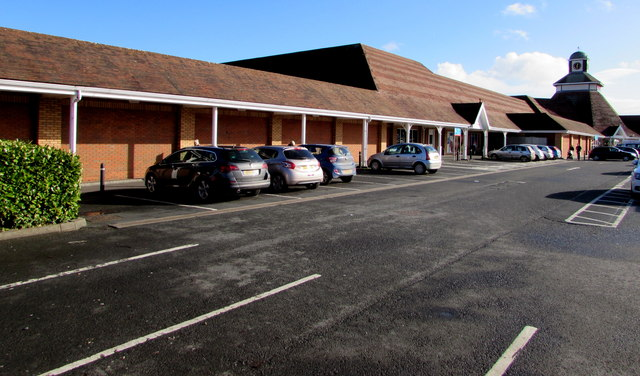 Tesco superstore and car park, Hereford